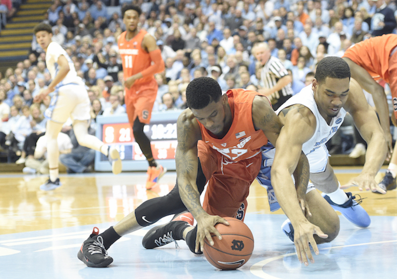 The Syracuse Orange takes on the North Carolina Tar Heels